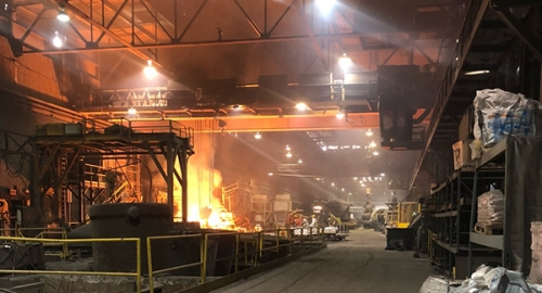 Canadian steel factory